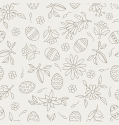 Easter season seamless pattern background vector