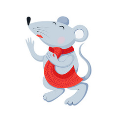 flat mouse animal for vector image