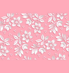 flower seamless pattern element vector image
