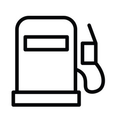 fuel icon with outline line style vector image