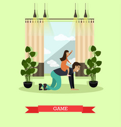 Game concept in flat style vector