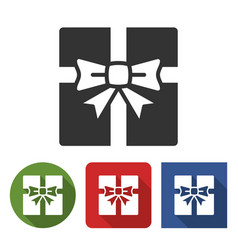 gift box icon in different variants vector image