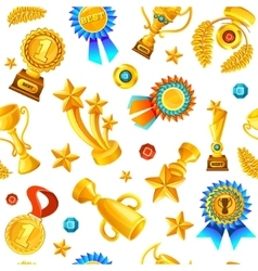 Gold Trophies Pattern vector
