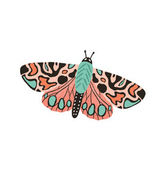 Gorgeous butterfly with bright multicolor wings vector