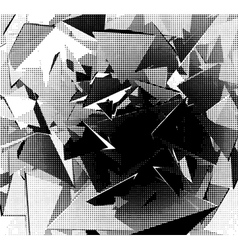 halftone abstract background in black and white vector image