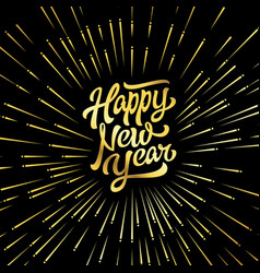 happy new year holiday with l vector image