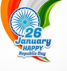 Happy republic day vector
