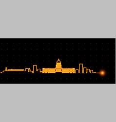 havana light streak skyline vector image