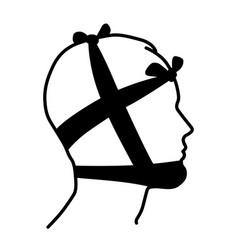 Head bandage vector
