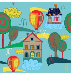 home and house pattern vector image
