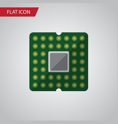 isolated mainframe flat icon unit element vector image