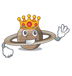 King planet saturn above the sky cartoon vector