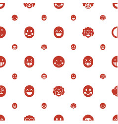laughing icons pattern seamless white background vector image