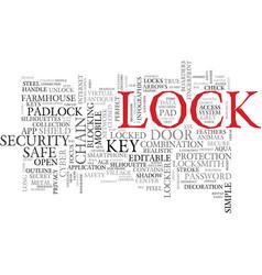 Lock word cloud concept vector