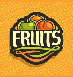 Logo for set fresh fruits vector
