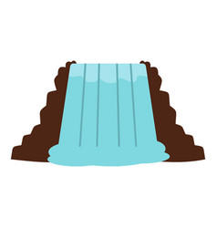 Niagara falls ontario canada icon isolated vector