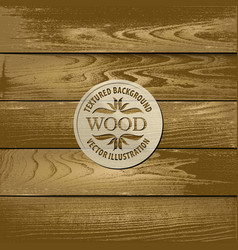 old textured wood background vector image