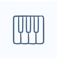 Piano keys sketch icon vector image