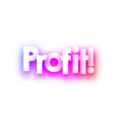 Pink spectrum profit sign on white background vector