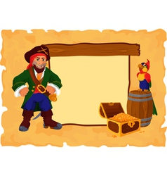 Pirate background vector
