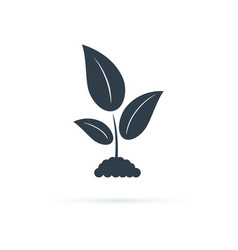 plant icon icon agriculture vector image