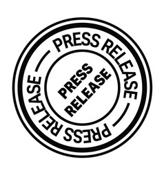 Press release stamp on white vector