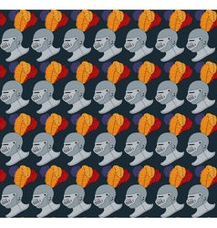 Seamless medieval pattern number two vector
