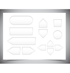 Set of Web buttons for design vector image