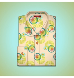 Shirt into a large pattern vector