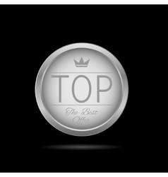 Silver Top label vector