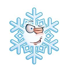 SnowFlake Emoticon Wink vector