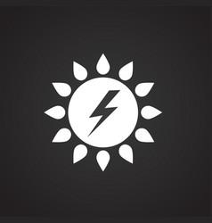solar power battery on black background vector image