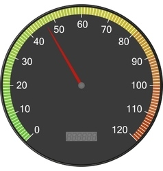 Speedometer or tachometer with arrow Colorful vector