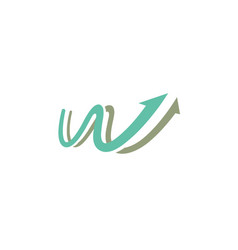 start up web logo vector image
