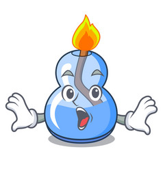 Surprised alcohol burner mascot cartoon vector