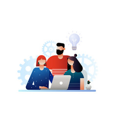 Teamwork and productivity concept vector