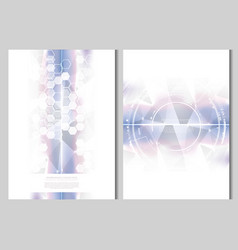 technology futuristic abstract system cyber space vector image