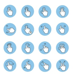 Touch gestures icons vector image