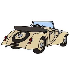 Vintage beige cabriolet vector