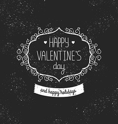 Vintage love card Happy valentines day vector