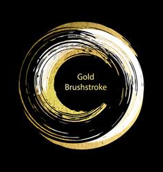White black and gold brushstroke design templates vector