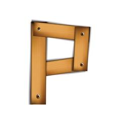 Wooden type p vector