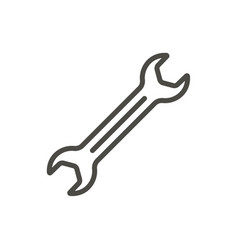 wrench icon line spanner symbol vector image