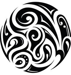 Circle tattoo vector image vector image