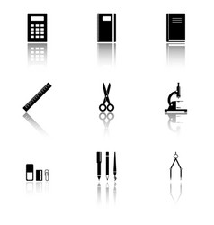 image of school supplies icons that should always vector image vector image