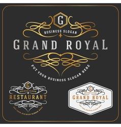 Luxurious Royal Logo Re-sizable Design vector image vector image