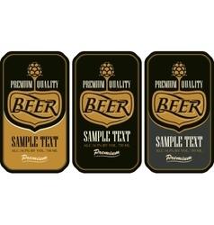 set labels for beer vector image vector image
