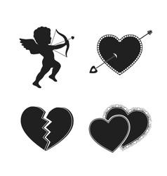 Set of valentine tattoos vector image