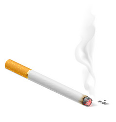 smoking cigarette on white background for vector image