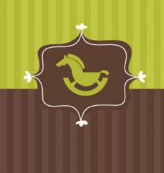 toy horse frame vector image vector image